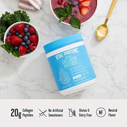 Vital Proteins Collagen Peptides Powder - Pasture Raised, Grass Fed, unflavored 20 ounces