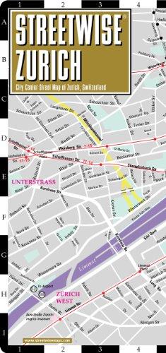 Streetwise Zurich Map - Laminated City Center Street Map of Zurich, Switzerland - Folding pocket...