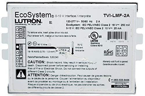 Lutron TVI-LMF-2A EcoSystem LED Dimming Interface, 0-10V, 2-Amp, 120/277V