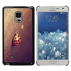 Caucho caso de Shell duro de la cubierta de accesorios de protección BY RAYDREAMMM - Samsung Galaxy Mega 5.8 - Mariquita