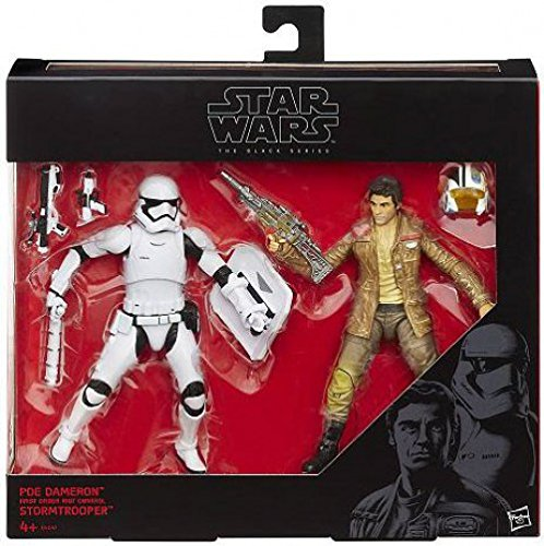 - Star Wars Black Series 6 Poe Dameron and First Order Riot Control Stormtrooper 2 Pack Figure