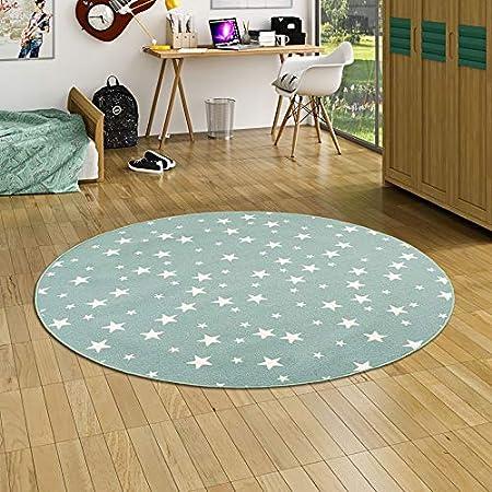 Alfombra Infantil y de Juego Redonda con diseño de Estrellas