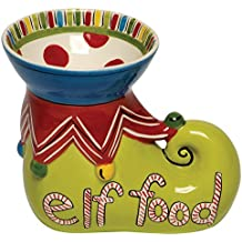 Thompson & Elm M. Bagwell Simply Christmas Ceramic Elf Food Candy Bowl, Multicolor
