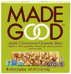 Made Good Granola Bar Apple Cinnamon, Case of 6 Boxes