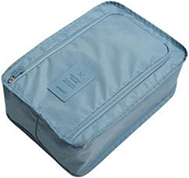 Orange super1798 Portable Outdoor Travel Shoes Storage Bag Waterproof Packing Cubes Container