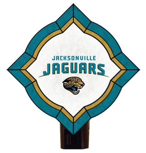NFL Jacksonville Jaguars Vintage Art Glass Nightlight