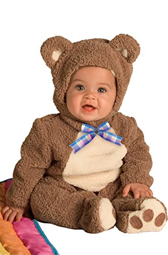 Brown Bear Costume Ears (Rubie's Costume Infant Noah Ark Collection Oatmeal Bear Jumpsuit, Brown/Beige, 12-18 Months)