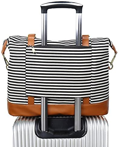 Ladies Canvas Weekender Overnight Trolley product image