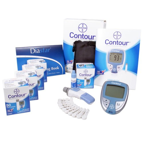 Bayer Contour Test Strips Value Bundle: Includes 4 Packs of