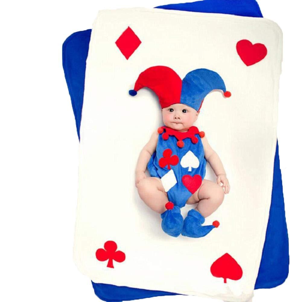 YNTAL Infant Boy Girl Cute Clown Photography Hat+Romper Props ...