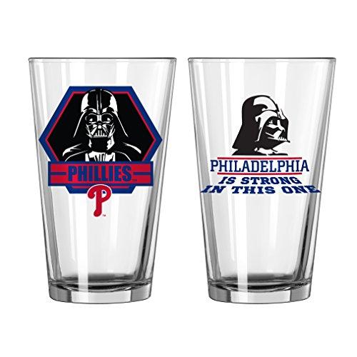 Boelter Brands MLB Philadelphia Phillies Star Wars Pint, 16-Ounce, 2-Pack