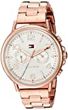 Tommy Hilfiger Women's 'CASEY' Quartz Stainless Steel Casual Watch, Color:Rose Gold-Toned (Model: 1781733)