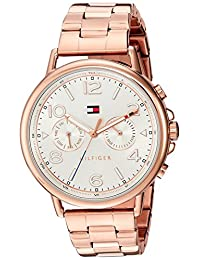 Tommy Hilfiger Women's 1781733 CASEY Analog Display Quartz Rose Gold Watch