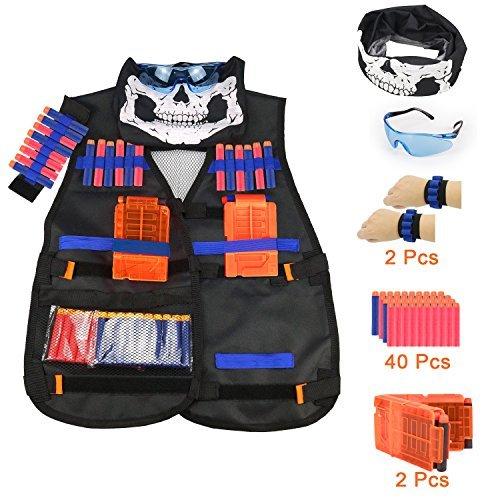 Tactical Vest Kit for Nerf Guns N-Strike Elite Series-by - Lightweight Elite Vest