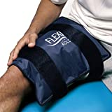 "FlexiKold Gel Ice Pack w/ Straps (Standard Large: 26.5 cm x 36.8 cm"") - One (1) Reusable Cold Therapy (For pain and injuries, wrap around Knee, Shoulder, Back, Ankle, Neck, Hip, Wrist) - 6300 COLD-STRAP"