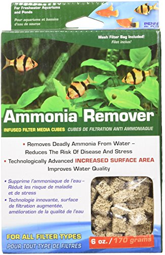 Penn Plax (CFC246) Ammonia Remover Infused Filter Media Cubes Including Multi-Filter Mesh Bag ()