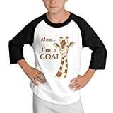 MULTY9 Pretty Cool Giraffe Child Youth 3/4 Raglan Jersey Shirt