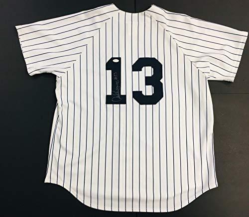 Alex Rodriguez Autographed Signed New York Yankees Baseball Jersey Majestic #13 JSA - Authentic Memorabilia