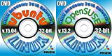 Ubuntu 15.04 and OpenSuse 13.2 Linux 2 DVD Set 32 bit Full Installation Includes Complimentary UNIX Academy Evaluation Exam