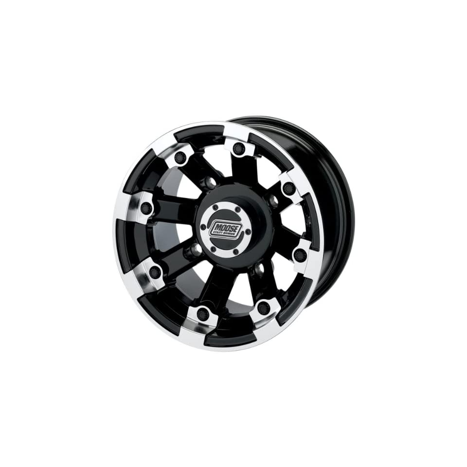 Moose Utility Type 393X Front Wheel   15x7   4+3 Offset   4/136   Black , Position Front, Wheel Rim Size 15x7, Rim Offset 4+3, Bolt Pattern 4/136, Color Black 393MO157136BW4 Automotive