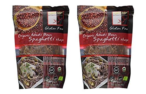 Explore Asian Organic Adzuki Bean Pasta, Spaghetti Shape, 7.05 Oz, Pack of 2