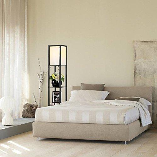 Oneach Modern Shelf Floor Lamp With Open Box Shelves