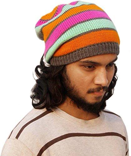 c09ed325097 VR Designers Multicolor Bob Marley Rasta Cap (Florescent-Grey