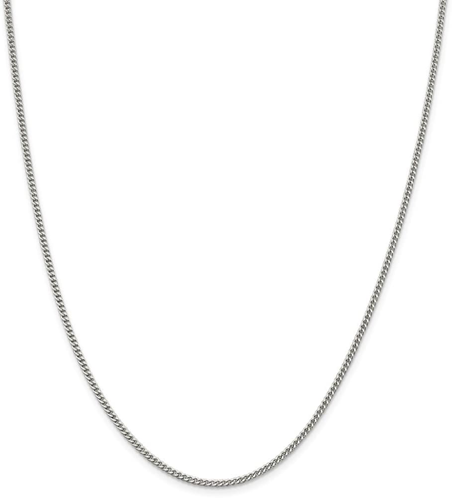 Heavy Silver Sterling Silver Curb Chain 16 18 20 22 24 28 inch HALLMARKED