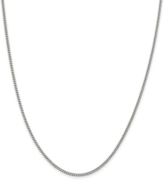 sterling silver chain small solid curb 18 inches pendant chain