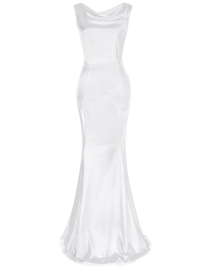 1930s Style Wedding Dresses | Art Deco Wedding Dress MUXXN Womens 30s Brief Elegant Mermaid Evening Dress $49.99 AT vintagedancer.com