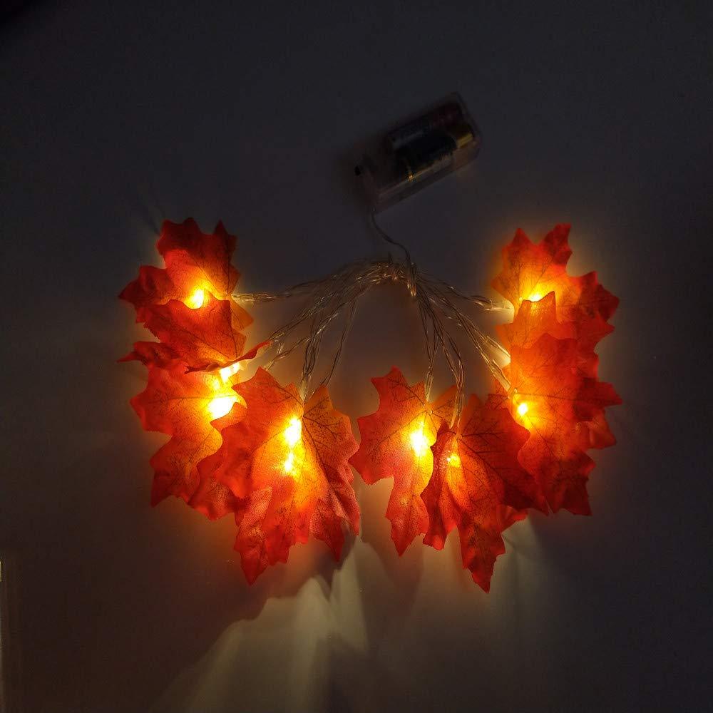 B Lichterkette,FeiliandaJJ 3M 20pc Herbst Ahornblatt Lichterkette LED Licht Hochzeit Party Weihnachten Halloween Innen//Au/ßen Haus Deko String Lights 3XAAA Batterien