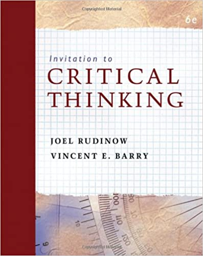 Critical thinking and communication the use of reason in argument 6th ed