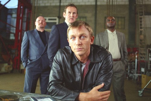 Daniel Craig and Colm Meaney and George Harris and Rab Affleck in Layer Congeal 24x36 Poster
