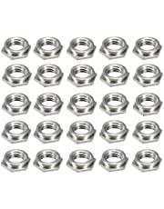 uxcell M3 x 0.5mm Pitch Hex Head Carbon Steel Blind Hole Self Clinching Standoff Nuts FS-M3-1, Pack of 25