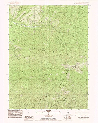 Bully Choop Mtn CA topo map, 1:24000 scale, 7.5 X 7.5 Minute, Historical, 1982, updated 1982, 27 x 21.5 IN - Paper