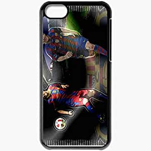 Personalized iPhone 5C Cell phone Case/Cover Skin Lionel Messi Black