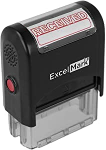 ExcelMark Received Self Inking Rubber Stamp (Stamp Only)