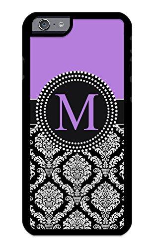 iPhone 6S Case, iPhone 6 Case, iZERCASE Custom Monogram Personalized Damask Pattern (Lavender)