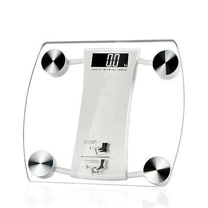 JTHKX Baño electrónico de Gran Tamaño Básculas de Piso Inteligentes Peso Corporal Peso de Pérdida de