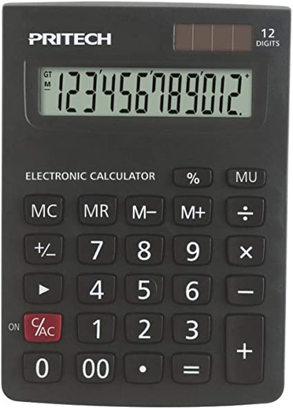 Pritech - Calculadora Básica para Escritorio sobre Mesa y para ...