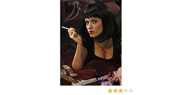 Magic Box Pulp Ficción Estilo MIA Negro Peluca: Amazon.es ...