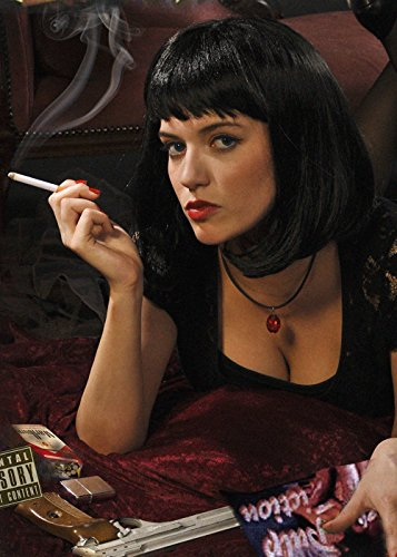 Pulp Fiction Style Black Mia Wig