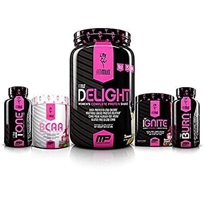 FitMiss Ultimate Diet Stack with FitMiss Burn, Ignite, Chocolate Delight, BCAA and Tone