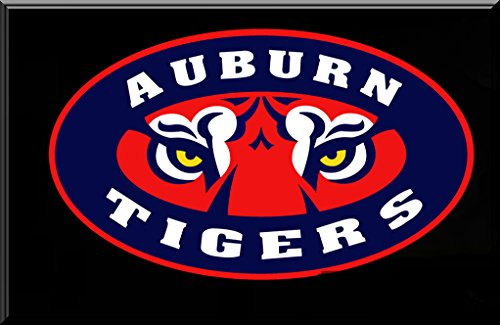 Auburn Tigers Tiger Eyes Light-Up Electric Neon Logo Lighted Decal Sign for Autos, Windows, Walls -