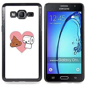 """Qstar Arte & diseño plástico duro Fundas Cover Cubre Hard Case Cover para Samsung Galaxy On5 O5 (Amor Natural - Poop y papel higiénico"""")"""