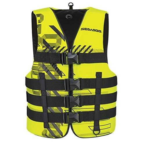 Sea-Doo BRP Unisex Nylon Navigator Life Jacket Vest PFD YELLOW 4X/6X