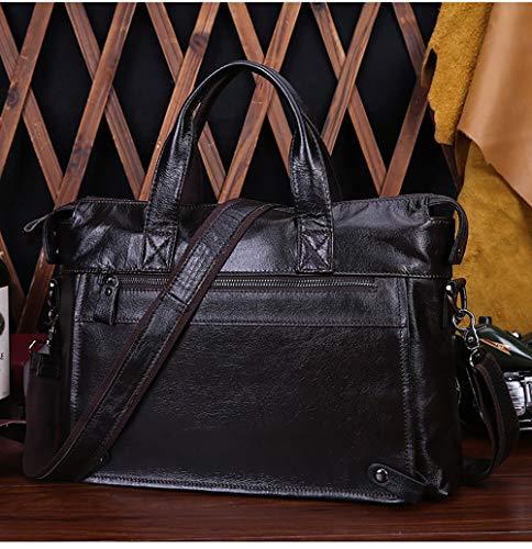 Bandoulière Sacs Kingee b Femmes Sac Ecole Hommes Sport Épaule Messenger Portés De Bag Cartable Nouveau Toile Laptop Travail Rétro Black Briefcase q4zrt4