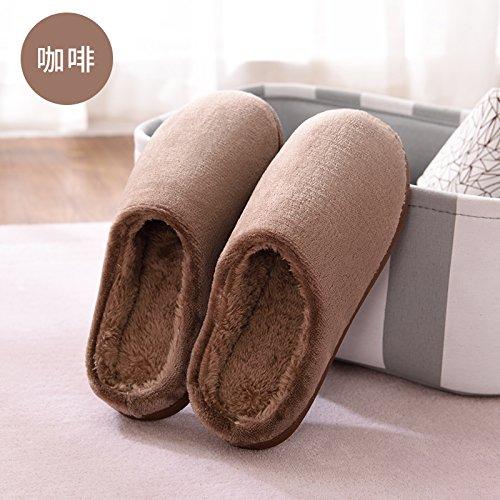 autunno 731 pantofole metà fondo pantofole con skid inverno 42 home piscina adatto fankou 44 pack 43 anti pantofole cotone paio di spesso donna femmina di marrone pantofole 45 Cotone Up5qZtnxwR