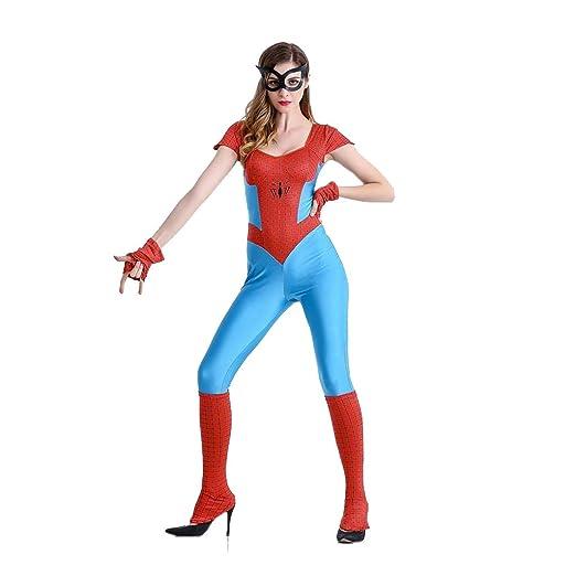 QQWE Cosplay Traje del Hombre araña de la Mujer del Super ...