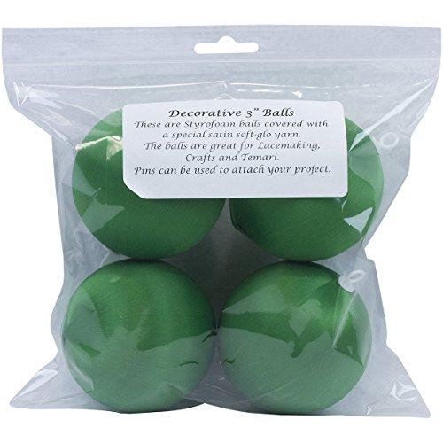 (Handy Hands Satin Balls, 3-Inch, Christmas Green)